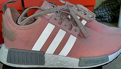 2017 Cheap Adidas NMD R1 Grey Pink BY3058 Shoes Price Women