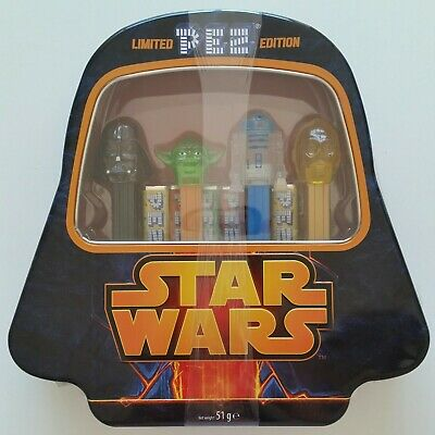 NEW & Sealed STAR WARS Limited Edition PEZ Candy Collectible Darth Vader Tin Set