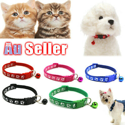 Dog Puppy Kitten Neck Strap with Bell Cat Pet Collar Adjustable Harness