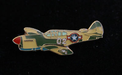 P-40 WARHAWK PEWTER HAT LAPEL PIN CURTISS MADE IN US ARMY AIR CORPS WWII GIFT