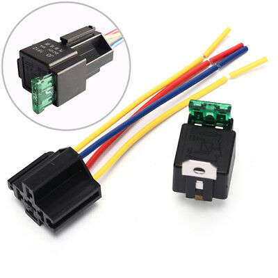 Waterproof prewired 5pin car relay harness holders 40A/12V with relay socket!E
