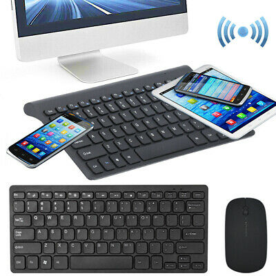 Tastiera wireless ultra slim sottile e mouse set combo 2.4GHz Kit per PC Laptop