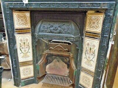 Fire Surround Insert / Old Fireplace / Victorian Cast Iron Fireplace Insert