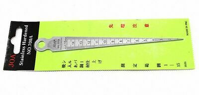1 to 15mm Gap and Hole Metric Gauge Stainless Hardened Measure