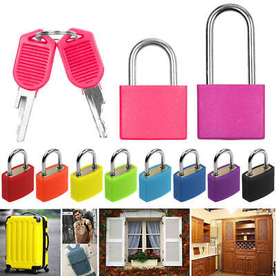 Small Padlock Set with Two Keys for Luggage Suitcase Bag Security Locks Travel