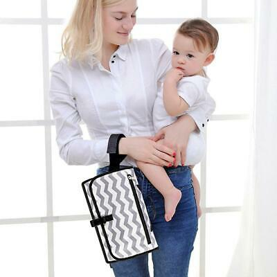 Baby Portable Foldable Washable Travel Nappy Diaper Waterproof Changing Mat Bag