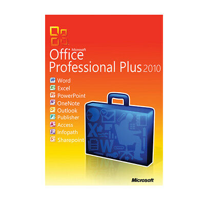 MS Office Professional plus 2010 (Word, Excel, Outlook, Access, Powerpoint etc.)