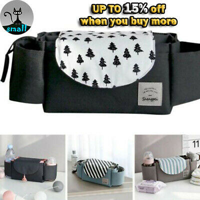 Waterproof Baby Stroller Storage Bag Pram Bottle Organizer Holder Hanging Bags