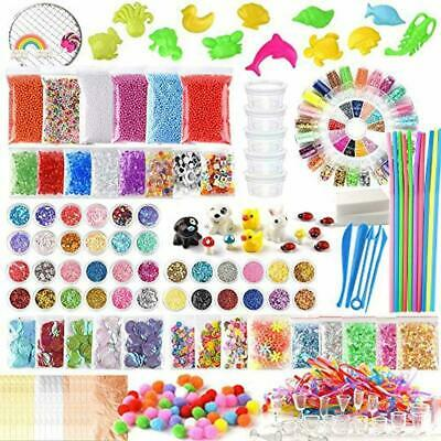 FEPITO 178 Pack Slime Supplies Kit Including Foam Balls, Fishbowl Beads