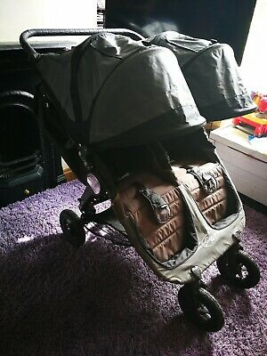 baby jogger city mini gt double pushchair stroller buggy grey