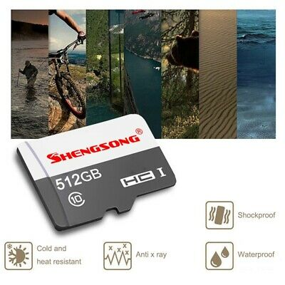512GB Micro-SD-Cards U3 C10 High Speed TF-Flash-Memory-SD-Card For Phone Cameras