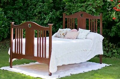 Antique 19th Century Edwardian mahogany double bed Refurbished Restored