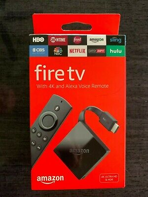 Amazon Fire TV 4K Ultra HD with Alexa Voice Remote (3rd Gen) Stick NEW SEALED