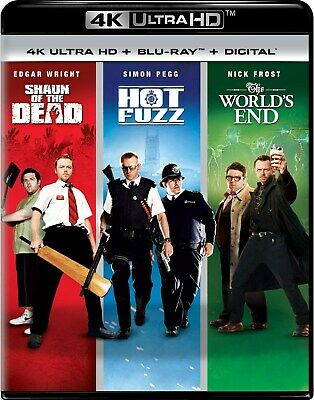 Shaun of the Dead / Hot Fuzz / The World's End UHD  NEW