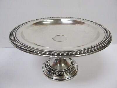 "International Footed Gadroon Compote # T 180 Sterling Silver 6 5/8"" W  Good Cond"