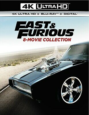 Fast & Furious 8-movie Collection UHD Paul Walker NEW