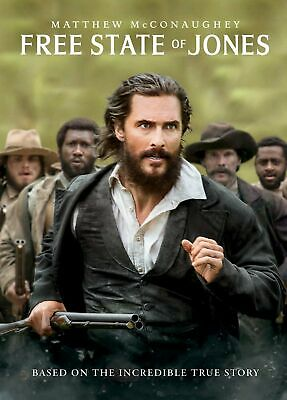 Free State of Jones DVD Matthew McConaughey NEW