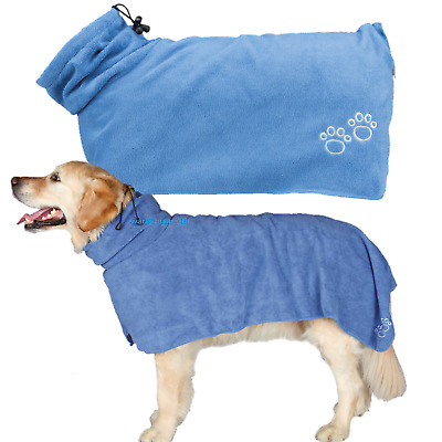 Trixie Mircofibre Bathrobe For Dogs Groomers Super Absorbent Towel Dog Grooming
