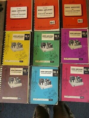 Full Set of Vacuum Tube Audio Amplifier Service Manuals by Sam's Photofacts