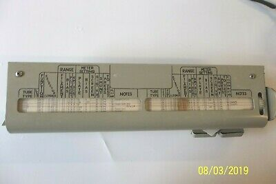 New decal for Military TV2 tube tester roll chart drive