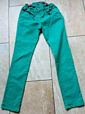 Mini Boden Girls Green jeans Age12, elascticated waist & 2% elastane for stretch