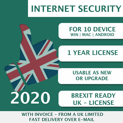 Kaspersky Internet Security 2020 [10 PC, 10 Device, 10 User - KEY - ESD]