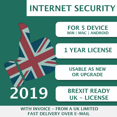 Kaspersky Internet Security 2019 [5 PC, 5 Devices, 5 User - KEY - ESD]