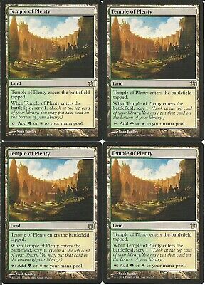 4x Temple of Plenty - Land - MTG Rare (scry 1 when enters) White Green Mana