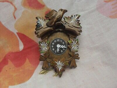 Retro Wooden Cuckoo Clock 16Cm X 11Cm Vintage Working German H Kammerer