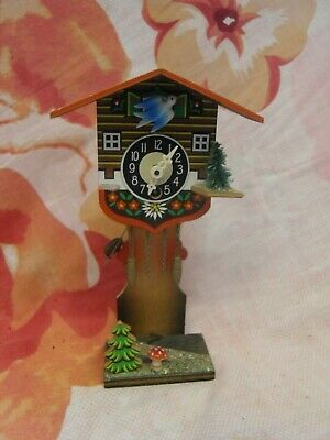 Retro Wooden Cuckoo Clock 21Cm X 12Cm Vintage Working German H Kammerer