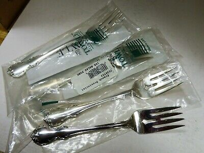 Set of 4 Sterling Silver Flatware - Towle French Provincial Salad Fork No Mono