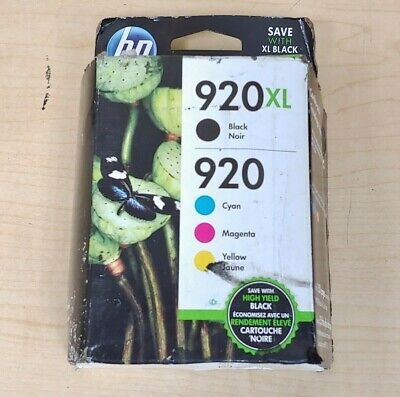 Genuine HP 902XL/920 Ink Cartridges - Combo Pack - B/C/M/Y - T0A39AN - Black Box
