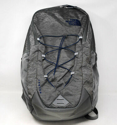 The North Face Men Jester Backpack in Zinc Grey Light Heather/Flag Blue NEW