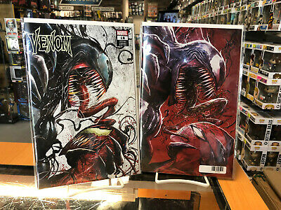 Venom 18 Tyler Kirkham Comic Spot Store Exclusive CVR A & B Set In Hand
