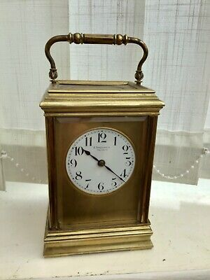 Antique Chiming Carriage Clock J Kirschbaum Salisbury Masked Dial France