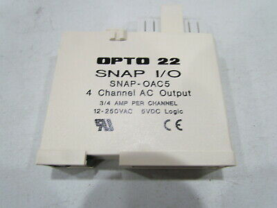 Output Module Discrete SNAP Digital Opto 22 SNAP-OAC5-I 12-250 VAC 4 Isolated Channels