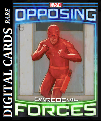 Topps Marvel Collect Card Trader Opposing Forces Daredevil Vs Bullseye [Digital]