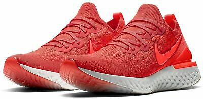Nike Epic React Flyknit 2 Running Shoes Chile Red BQ8928-601 Men's NEW