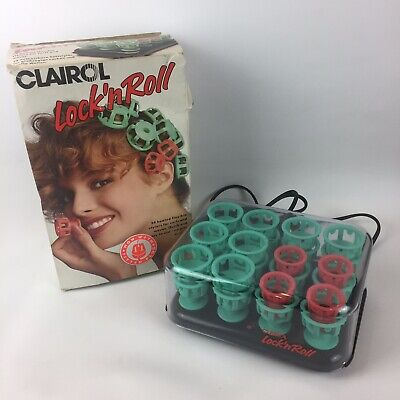 CLAIROL LOCK n ROLL - 24 Heated Flexible Stylers for Curls & Waves - Boxed