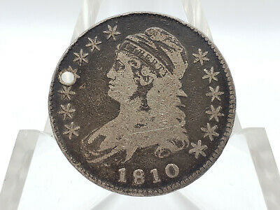 1810 Capped Bust Half Dollar **HOLED, FANTASTIC FILLER!**
