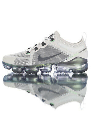 Men's Shoe Nike Air VaporMax 2019 White & Gray Running Shoes Sneakers ON SALE
