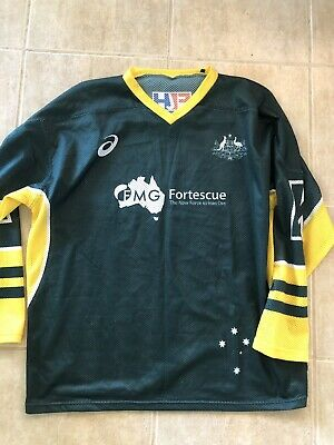 Hockey Australia Kookaburras Jersey Ice Hockey? Men's Large Rare Asics