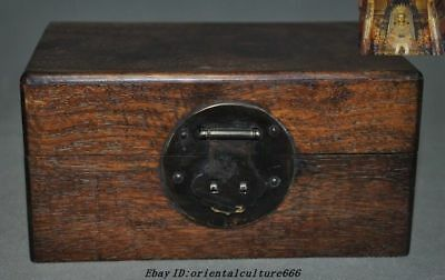 Old Chinese Dynasty Huanghuali Wood Hand-carving Jewelry Box chest Storage boxes