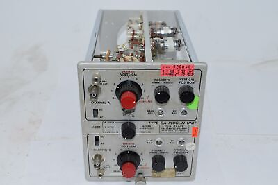 Tektronix Type-CA Plug in Unit Dual-Trace Calibrated Preamp