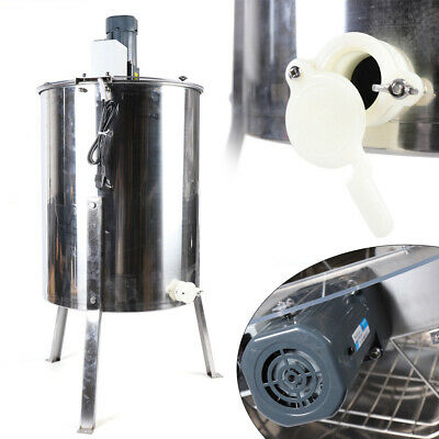 4 Frame Electric Honey Extractor Beekeeping Plastic Gate Food Grade POPULAR