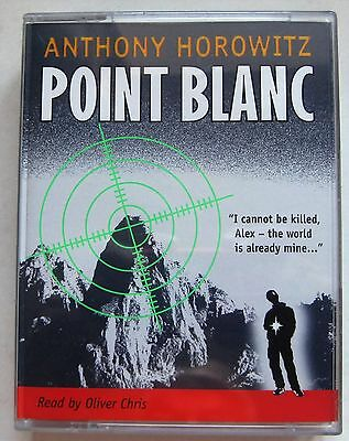 POINT BLANC by ANTHONY HOROWITZ  4 CASSETTE AUDIO BOOK
