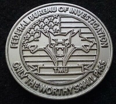 FBI Threat Monitoring Unit TMU Federal Bureau of Investigation US Challenge Coin