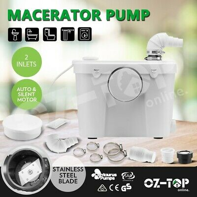 400W Macerator Sewerage Pump Toilet Disposal Waste Water Marine Unit Laundry