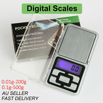 0.01-200g 0.1-500g Pocket Digital Scale Precision Jewelry Balance gram Scales