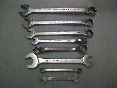 Proto Tools Combination Boxed /  Open End Wrenches